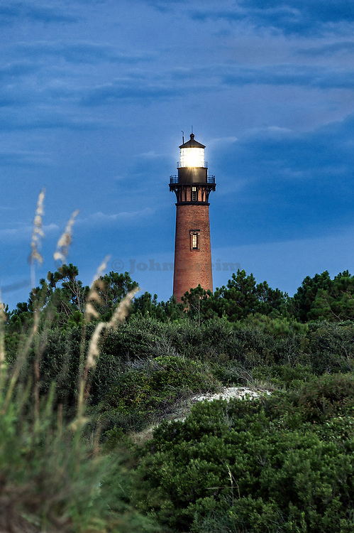 Currituck Beach Light, Corolla, North Carolina, USA.