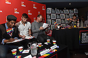 The Stoli Key West Cocktail Classic judging panel, Shantel Grant, 2015 NY Champion, Cooper Cheatham, spirits expert, and Jeffrey Smead, of Island House Key West, evaluate contestants on the authenticity, creativity and taste of original Stoli cocktails, Wednesday, Feb. 24, 2016, at Boxers HK in New York. (Diane Bondareff/Invision for Stoli Vodka/AP Images)