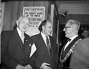 05/02/1960<br /> 02/05/1060<br /> 05 February 1960 <br /> Premiere of Mise Eire at the Regal Cinema, Dublin.  Image shows on right, Lord Mayor of Dublin, Clr. P.A. Brady TD chatting with George Morisson (centre) director of the film and Christy Brady, one of the surviving Dublin printers of the 1916 Proclamation.