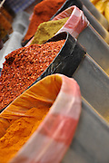 Spices in the market in Darjeeling, West Bengal, India