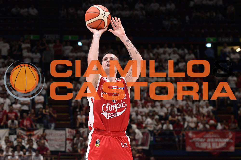 Cinciarini Andrea<br /> EA7 Emporio Armani Olimpia Milano - Dolomiti Energia Aquila Basket Trento<br /> Playoff Gara 1<br /> Lega Basket 2016/2017<br /> Milano 25/05/2017<br /> Foto Ciamillo-Castoria