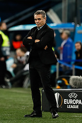 February 21, 2019 - Saint Petersburg, Russia - Fenerbahce SK head coach Ersun Yanal looks on during the UEFA Europa League Round of 32 second leg match between FC Zenit Saint Petersburg and Fenerbahce SK on February 21, 2019 at Saint Petersburg Stadium in Saint Petersburg, Russia. (Credit Image: © Mike Kireev/NurPhoto via ZUMA Press)