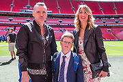 Forest Green Rovers Chairman Dale Vince and family during the Vanarama National League Play Off Final match between Tranmere Rovers and Forest Green Rovers at Wembley Stadium, London, England on 14 May 2017. Photo by Shane Healey.