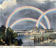 Multiple rainbows. Print, 1845.