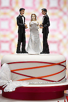 Figurines on Wedding Cake