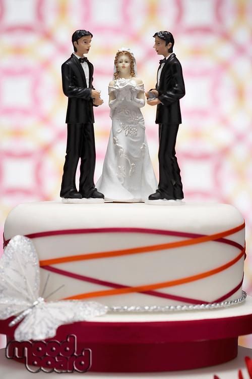 Figurines on Wedding Cake