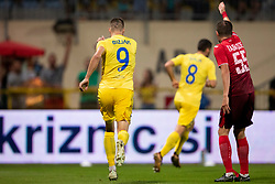 Lovro Bizjak of NK Domzale celebrates goal during 2nd Leg football match between NK Domzale and FC Ufa in 2nd Qualifying Round of UEFA Europa League 2018/19, on August 2, 2018 in Sports Park Domzale, Domzale, Slovenia. Photo by Urban Urbanc / Sportida