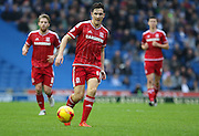 Middlesbrough FC midfielder Stewart Downing during the Sky Bet Championship match between Brighton and Hove Albion and Middlesbrough at the American Express Community Stadium, Brighton and Hove, England on 19 December 2015. Photo by Phil Duncan.