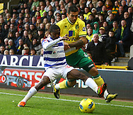 Picture by Paul Chesterton/Focus Images Ltd.  07904 640267.26/11/11.Bradley Johnson of Norwich and Shaun Wright-Phillips in action during the Barclays Premier League match at Carrow Road Stadium, Norwich.