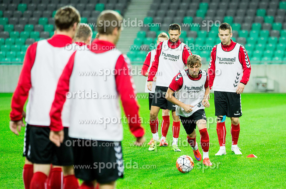 Arvydas Novikovas during practice session of Lithuanian National Football team one day before Euro 2016 Qualifying game between Slovenia and Lithuania, on October 8, 2015 in SRC Stozice, Ljubljana Slovenia. Photo by Vid Ponikvar / Sportida