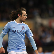 Mix Diskerud, NYCFC, in action during the New York City FC Vs Sporting Kansas City, MSL regular season football match at Yankee Stadium, The Bronx, New York,  USA. 27th March 2015. Photo Tim Clayton
