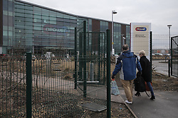 © Under licence to London News Pictures. 08/03/2016. Workers arrive at the Npower offices in Houghton-le-Spring, County Durham, UK. The company has announced it will cut 2,400 jobs in the UK by 2008. March 8th Photo Credit: Stuart Boulton/LNP