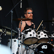 Drummer Doug 'Cosmo' Clifford performing with Creedence Clearwater Revisited performing at the Queenstown Events Centre, Queenstown,  Otago, New Zealand. 5th February 2012. Photo Tim Clayton