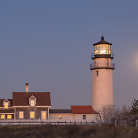 Last sunlight on Highland Lighthouse, Cape Cod National Seashore