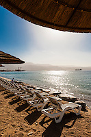 The resort city of Eilat, Gulf of Aqaba, Red Sea, Israel.