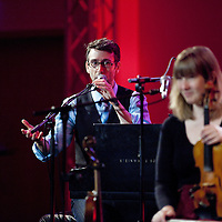 Picture Shows :<br /> Mac Morin <br /> Patsy Reid (Fiddle), Luke Daniels (Melodeon &amp; zither banjo), Mac Morin (Piano and Step dancer).<br /> <br /> NEW MUSIC BIENNIAL 2014 <br /> GLASGOW ROYAL CONCERT HALL<br /> 1st &ndash; 2nd August 2014<br /> <br /> New Music Biennial is a PRS for Music Foundation initiative, in partnership with Creative Scotland, Arts Council England and the British Council. It is presented in collaboration with BBC Radio 3, NMC Recordings, Southbank Centre and Glasgow UNESCO City of Music.<br /> <br /> The New Music Biennial is an international celebration - part of Glasgow Culture 2014, the cultural programme of the Commonwealth Games.<br /> <br /> PRS for Music Foundation is the UK's leading charitable funder of new music across all genres. Since 2000 PRS for Music Foundation has given more than &pound;19 million to over 4500 new music initiatives by awarding grants and leading partnership programmes that support music sector development. <br /> <br /> Picture Drew Farrell<br /> Tel : 07721-735041<br /> <br /> For Further information please contact :<br /> Liam McMahon ( Comms Manager)<br /> Tel : 020 7580 5544