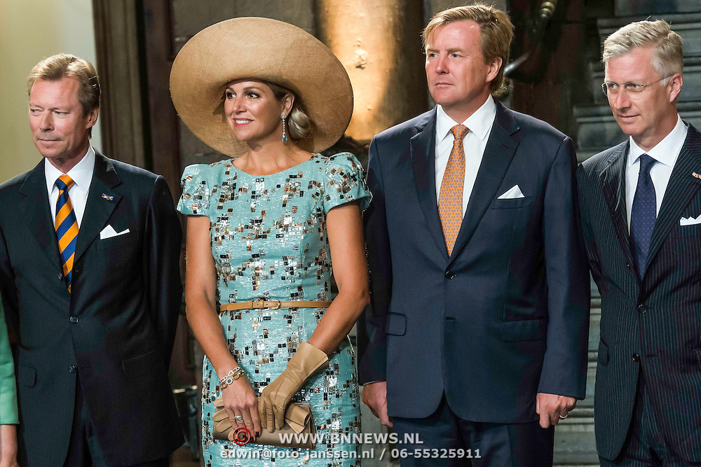 NLD/Maastricht/20140830 - Festivities on the occasion of the 200th jubilee of the Kingdom of the Netherlands in Maastricht - 200 Jaar Koninkrijk der Nederlanden, King Willem-Alexander, Queen Máxima, Groothertog Henri and King Philippe van België