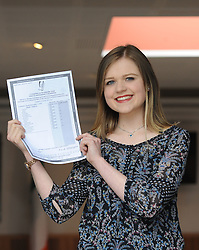 Mayo's brightest amoungs the countries top Leaving Cert's. Emma Louise Ruane from Mount St Michael School Claremorris pictured with her Leaving cert exam results. Pic Conor McKeown