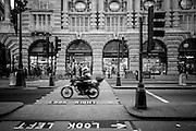 Traffic on London's Regent Street, London, England (December 2007)