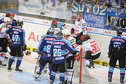 27.04.2014, Saturn Arena, Ingolstadt, GER, DEL, ERC Ingolstadt vs Koelner Haie, Finale, Best of seven Serie, 6. Spiel, im Bild Schlaegerei nach dem Spiel // during the DEL Icehockey League Playoff final 6th match of a best of seven serie between ERC Ingolstadt and Koelner Haie at the Saturn Arena in Ingolstadt, Germany on 2014/04/27. EXPA Pictures © 2014, PhotoCredit: EXPA/ Eibner-Pressefoto/ Schreyer<br /> <br /> *****ATTENTION - OUT of GER*****