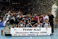 Handball: 1. Bundesliga, Saison 2008/2009, THW Kiel - HSG Wetzlar, THW Kiel Deutscher Meister 2009, germany handball champion 2009, www.hoch-zwei.net, copyright: SPORTIDA / HOCH ZWEI / Philipp Szyza