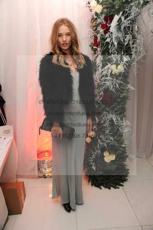 ROSIE HUNTINGTON-WHITELEY at the launch of the English National Ballet's Christmas season 2009 held at the St.Martin;s Lane Hotel, London on 15th December 2009.
