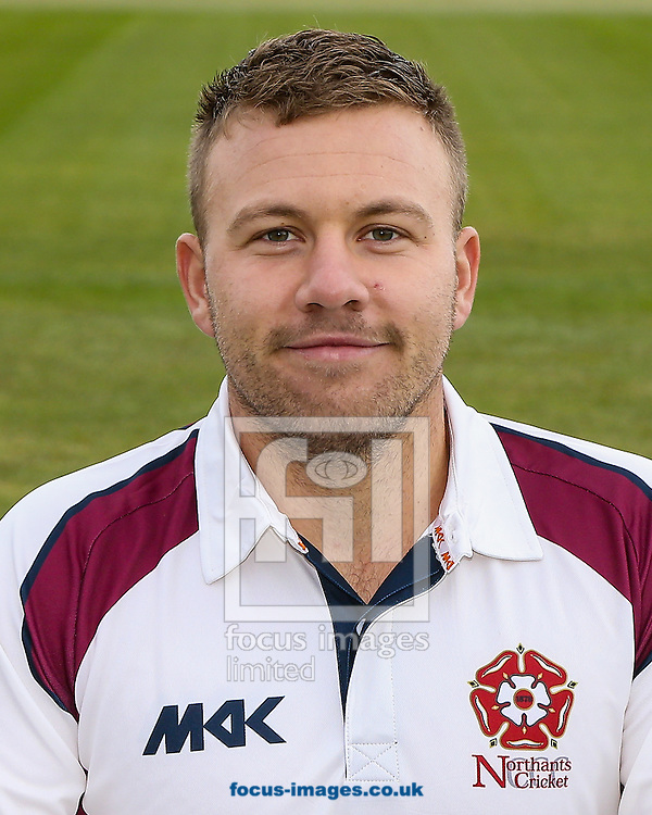 Adam Rossington pictured in County Championship kit during the Northants CCC Media Day at the County Ground, Northampton, Northampton<br /> Picture by Andy Kearns/Focus Images Ltd 0781 864 4264<br /> 08/04/2016