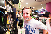Colm Conneely Leitir Mor at the opening of HMV Galwayat Edward square. Photo:Andrew Downes