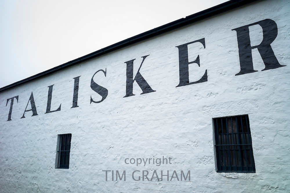 Talisker Single Malt Whisky Distillery in Carbost on Isle of Skye, Scotland