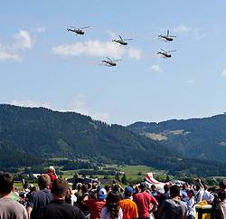 "01.07.2011, Fliegerhorst Hinterstoisser, Zeltweg, AUT, AIRPOWER 2011, im Bild eine Staffel von Allouette III Hubschrauber des Österreichischen Bundesheeres während der ,,Airpower 11"" Flugshow in Zeltweg, Österreich. //  a squadron of helicopters in the Austrian army Allouette III during the ""Airpower 10"" air show on the Air Base Hinterstoisser in Zeltweg, Austria on 2011/07/01, EXPA Pictures © 2011, PhotoCredit: EXPA/ J. Feichter"