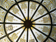 Detail of the domed skylight that sits on the grounds of Larnach Castle, near Portobellow, on the Otago Peninsula, near Dunedin, New Zealand