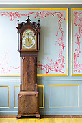 Grandfather clock at Den Gamle By, The Old Town, open-air folk museum at Aarhus,  East Jutland, Denmark