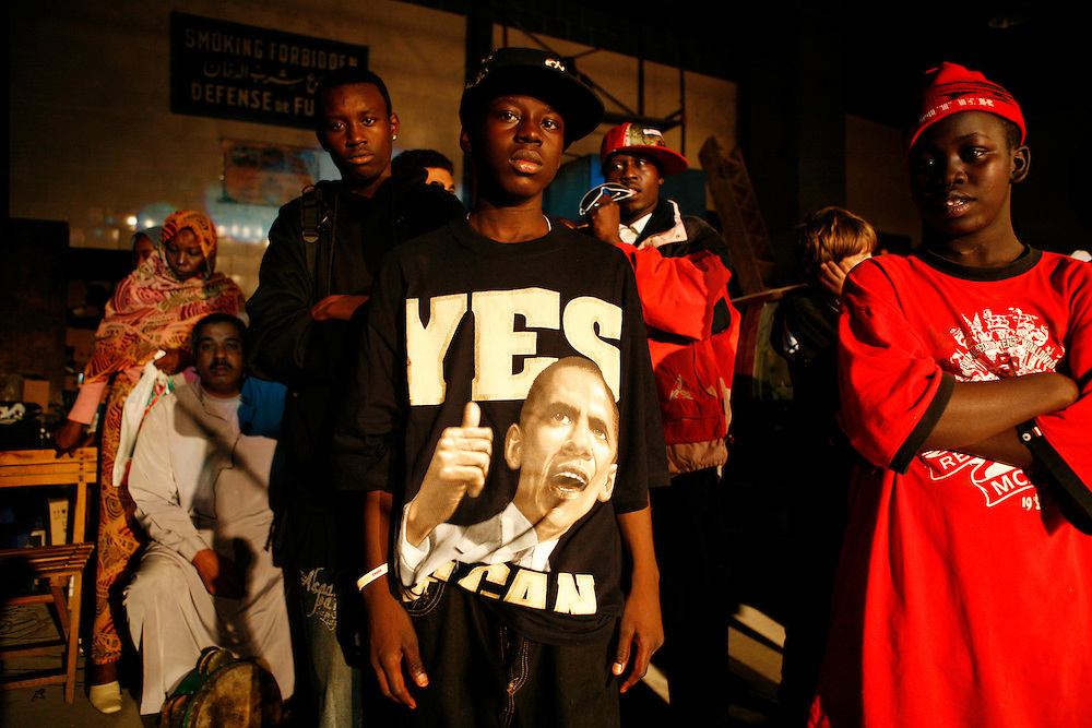 Sudanese rappers perform at an event in Cairo.