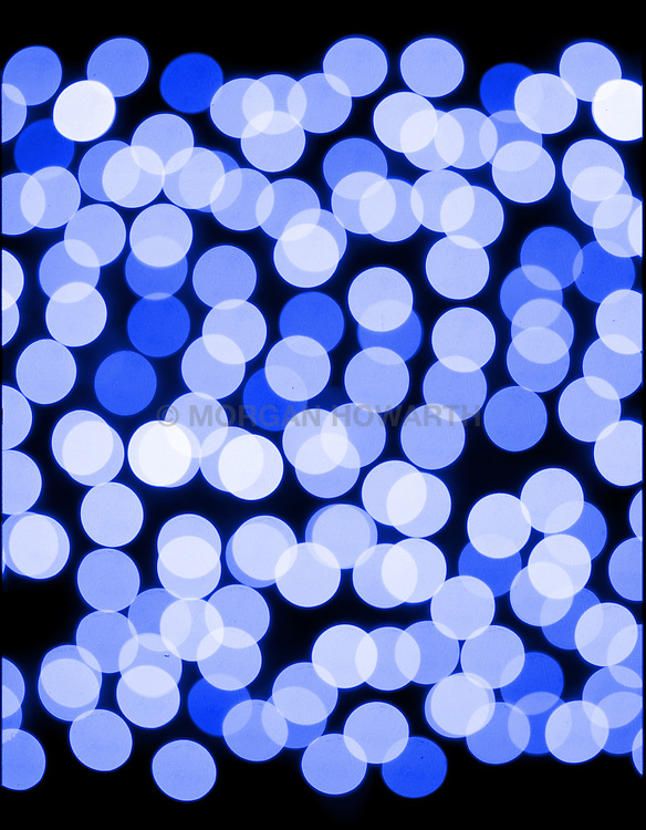 Blue lights with bokeh effect
