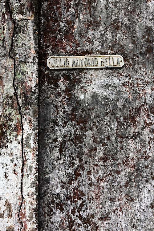 Wall in Baracoa, Guantanamo, Cuba.