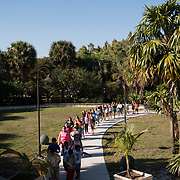 KEY BISCAYNE, FLORIDA, MARCH 22, 2017<br /> Students arrive at the Marjory Stoneman Douglas Biscayne Nature Center to take part in  the United Nations World Water Day activities. Philippe Cousteau, Jr and the EarthEcho team aided by Miami Waterkeeper and educators from the Nature Center, worked with 125 fifth grade students from Citrus Grove Elementary School and the American Heritage School.<br /> (Photo by Angel Valentin/Freelance)