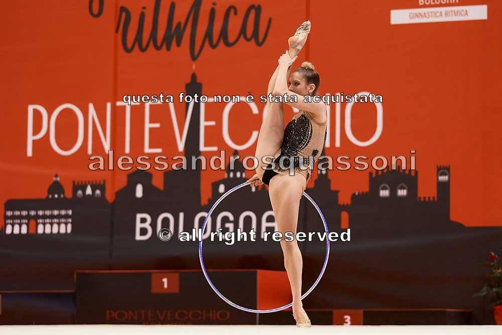 Laura Specchiulli from Pontevecchio team during the Italian Rhythmic Gymnastics Championship in Bologna, 9 February 2019. Pontevecchio by Bologna is the organizer of this event.