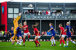 Bristol City Women contends for the aerial ball with Chelsea - Mandatory by-line: Ryan Hiscott/JMP - 29/09/2019 - FOOTBALL - SGS College Stoke Gifford Stadium - Bristol, England - Bristol City Women v Chelsea Women - FA Women's Super League