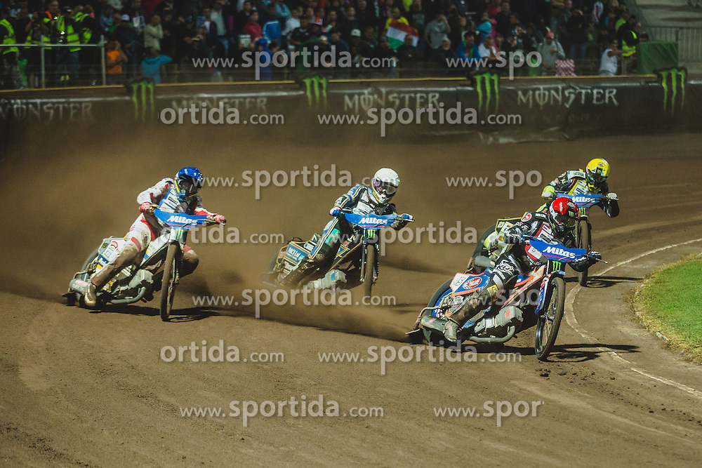 Peter Kildemand of Denmark (2nd) and Greg Hancock of USA (1st) during Mitas Slovenian FIM Speedway Grand Prix World Cup, Krsko, on 9. September, 2015, in Sports park Krsko, Slovenia. Photo by Grega Valancic / Sportida