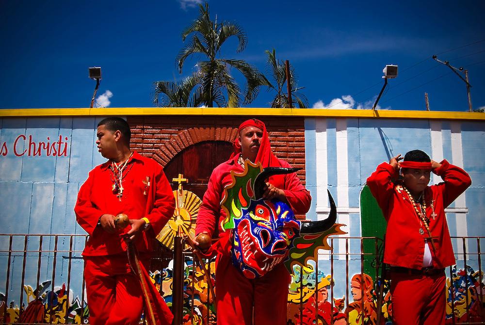DANCING DEVILS OF YARE / LOS DIABLOS DE YARE<br /> San Francisco de Yare, Miranda State - Venezuela 2009.<br /> (Copyright &copy; Aaron Sosa)