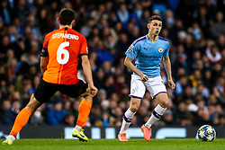 Phil Foden of Manchester City takes on Taras Stepanenko of Shakhtar Donetsk - Mandatory by-line: Robbie Stephenson/JMP - 26/11/2019 - FOOTBALL - Etihad Stadium - Manchester, England - Manchester City v Shakhtar Donetsk - UEFA Champions League Group Stage