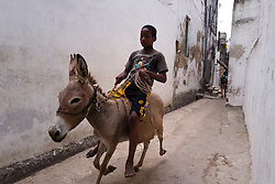 Street photography in Lamu, Kenya.