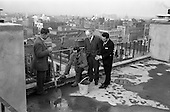 "1963 - ""Topping Off"" new extension at  Jury's Hotel, Dublin."