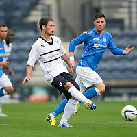 Raith Rovers v St Johnstone...12.07.14  Pre-Season Friendly<br /> Kevin Moon and Michael O'Halloran<br /> Picture by Graeme Hart.<br /> Copyright Perthshire Picture Agency<br /> Tel: 01738 623350  Mobile: 07990 594431