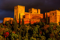 The Alhambra palace, Granada, Granada Province, Andalusia, Spain.