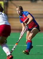 BILTHOVEN - Sarah Jaspers van SCHC , zondag tijdens de hoofdklasse competitiewedstrijd tussen de vrouwen van SCHC en MOP (5-0). COPYRIGHT KOEN SUYK