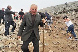 Pat O'Rourke from Ennistymon Co Clare pictured on Croagh Patrick yesterday.<br /> Pic Conor McKeown