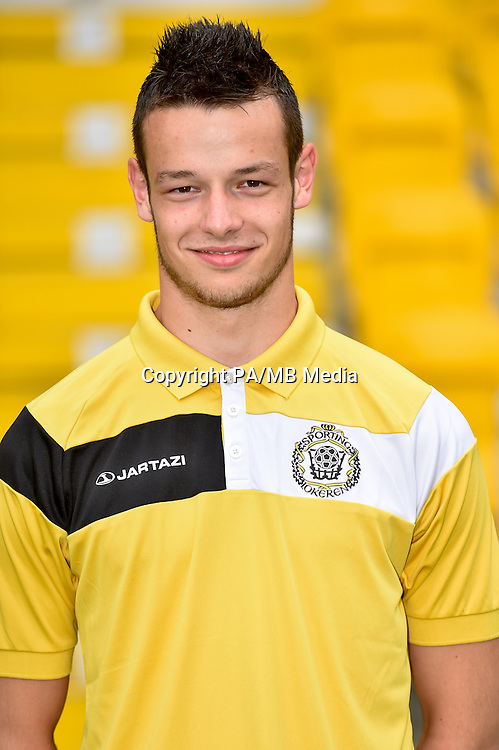 20150626 - LOKEREN, BELGIUM: Lokeren's Dieter Creemers pictured during the 2015-2016 season photo shoot of Belgian first league soccer team Sporting Lokeren, Friday 26 June 2015 in Lokeren. BELGA PHOTO LUC CLAESSEN