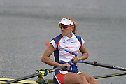 Eton Dorney, Windsor, Great Britain,..2012 London Olympic Regatta, Dorney Lake. Eton Rowing Centre, Berkshire.  Dorney Lake.   ..Description  -  Women's Single Sculls Sculls  CZE W1X Mirka KNAPKOVA. ...11:46:42   Thursday  02/08/2012   [Mandatory Credit: Peter Spurrier/Intersport Images]  .
