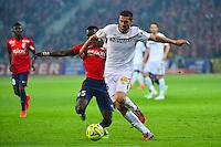 Pierrick VALDIVIA / Idrissa GUEYE - 03.02.2015 - Lille / Lens - 35eme journee de Ligue 1<br />Photo : Dave Winter / Icon Sport